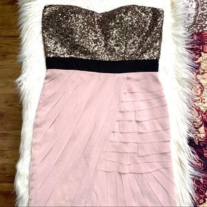 GB Strapless Sequined Cocktail Dress